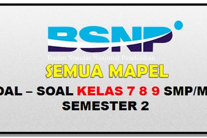 soal UTS SMP/MTs kelas 7 8 9 semester 2.