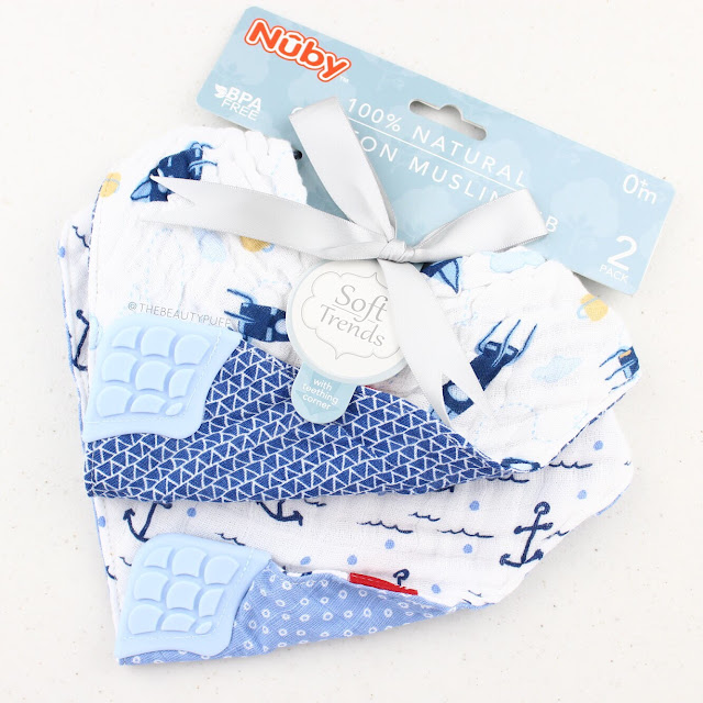 Nuby Reversible Muslin Teething Bib  |  The Beauty Puff