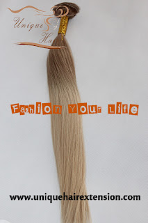 ombre color clip in hair extensions