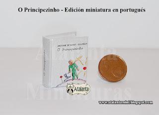 El Principito libro miniatura - minibook O Principezinho