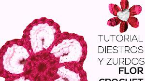 Cómo tejer flor drochet / Tutorial para diestros y zurdos
