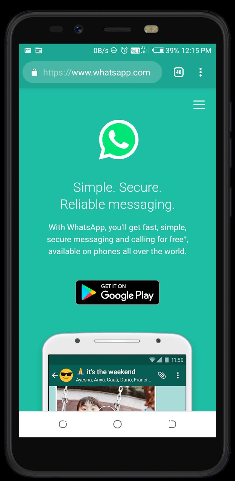 install whatsapp in jio phone download