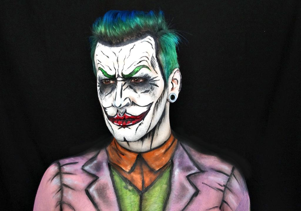 et que vous m\u0027avez demandé de réaliser un maquillage du Joker  Je vous  présente ma version pop art / cartoon du célèbre ennemi de BatMan  le Joker  !