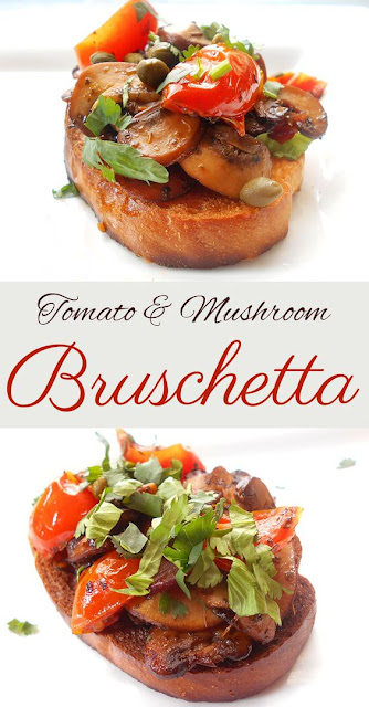 Mushroom Bruschetta With Tomatoes