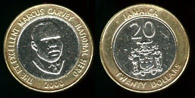 Jamaica  20 Dollars (2000+) Coin