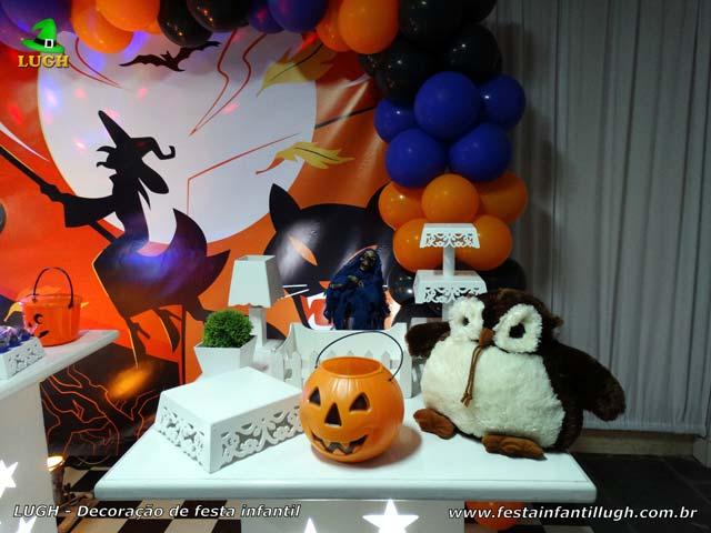 Decoração de festa tema Halloween - Aniversário infantil - Mesa provençal