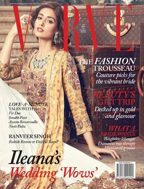 Ileana D'cruz photo shoot for Verve September 2013