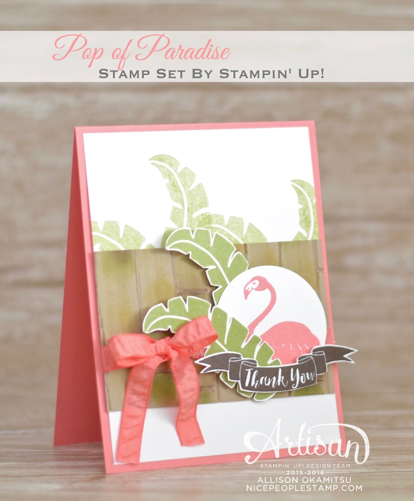 Nice People Stamp Stampin Up Canada Pop Of Paradise Card