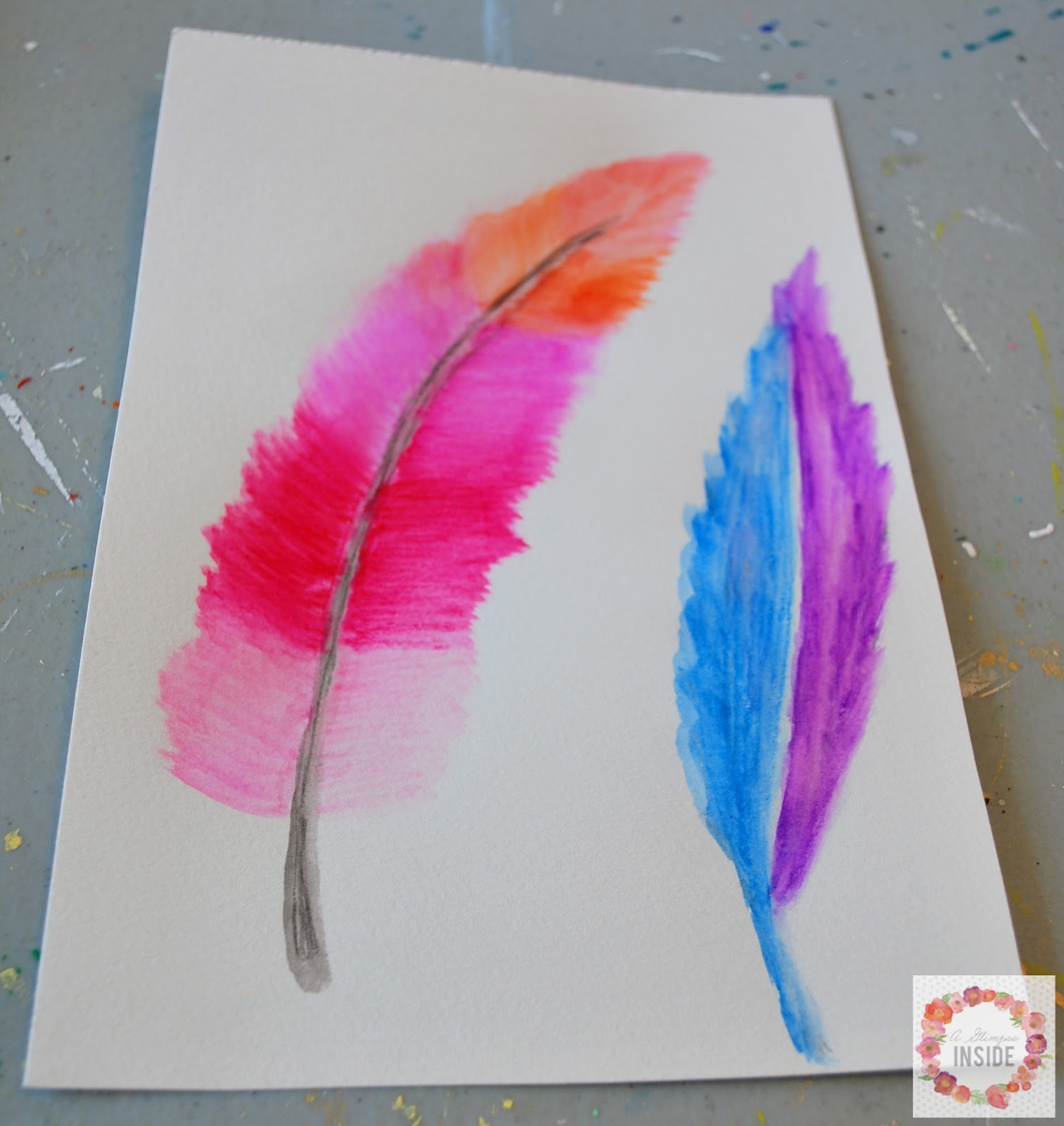 And here here are some feathers as well