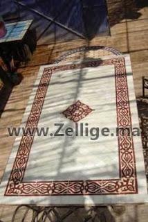 deux tables mosaique en zellige marocain ovale et rectangulaire mosaique marocaine. Black Bedroom Furniture Sets. Home Design Ideas