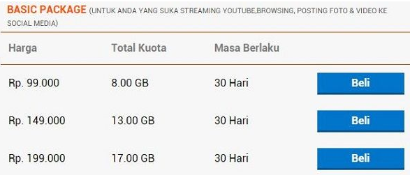 paket Internet BOLT Super 4G LTE