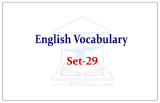 English Vocabulary Set-29 (with meaning and example)