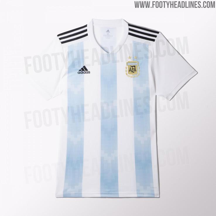 Camiseta albiceleste y pantalones negros para argentina en for Cuarto kit del america 2018