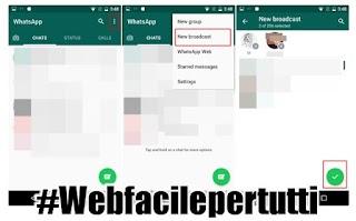 WhatsApp | Come mandare lo stesso messaggio a più contatti contemporaneamente