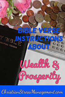 Bible verse instructions for wealth and prosperity