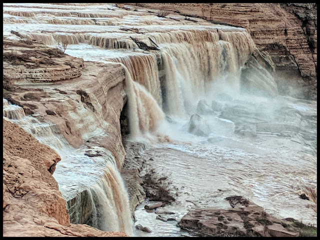Grand Falls Arizona in the Painted Desert in the Navajo Nation 30 miles North East of Flagstaff, Arizona
