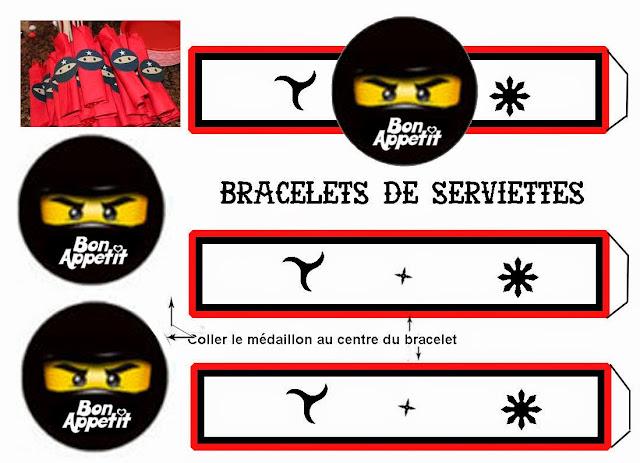 Para servilletas para Imprimir Gratis de Ninjago.