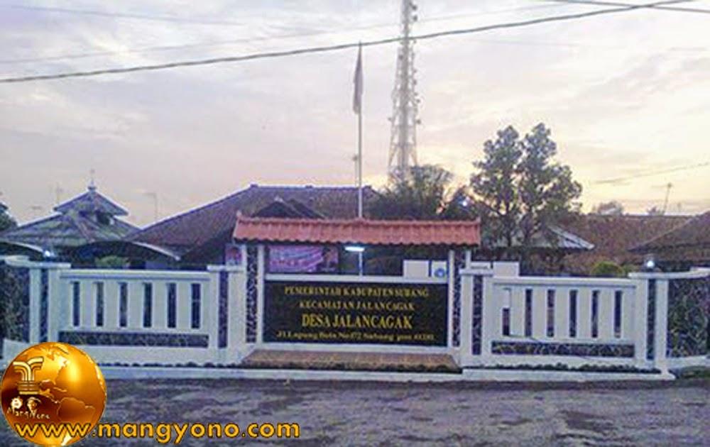 Kantor Desa Jalancagak, Kecamatan Jalancagak. Poto Jepretan Downhil Blue , Facebooker Subang ( FBS ).