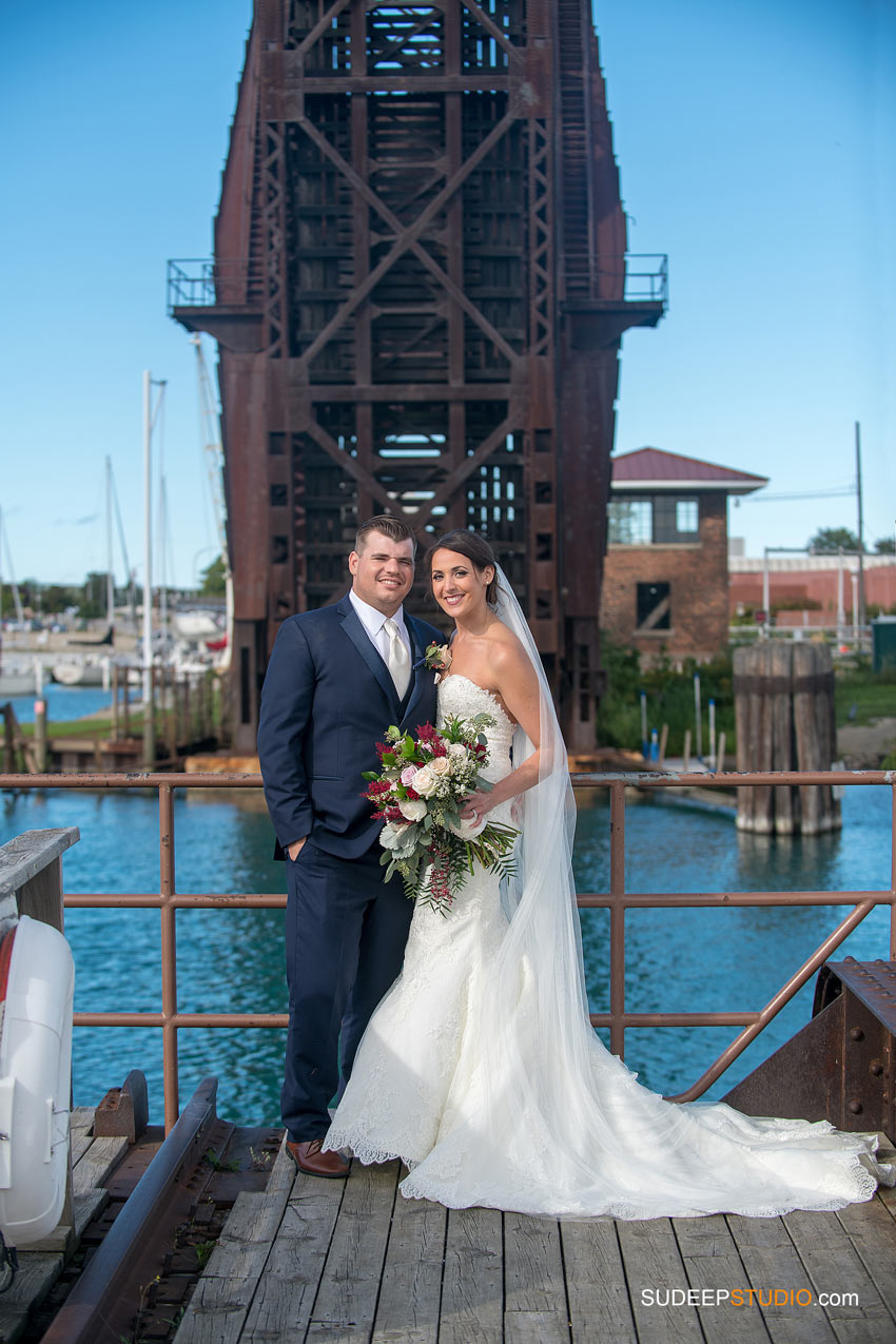 Wedding Portraits Port Huron Harbor Michigan by SudeepStudio.com Ann Arbor Wedding Photographer