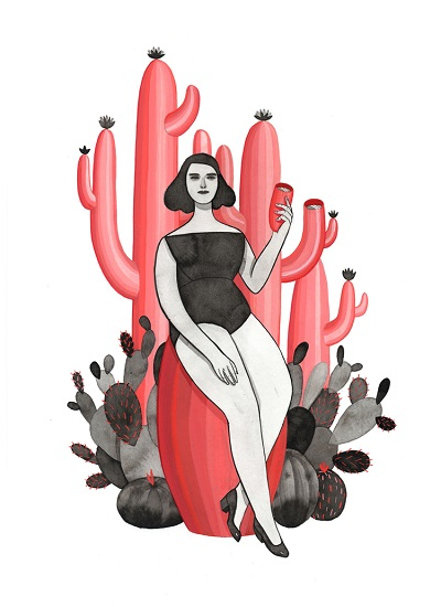 "por Monica Garwood, ""The Cactus Drinker"" 