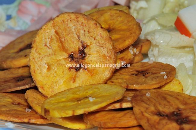 Chips de plátano macho caseros