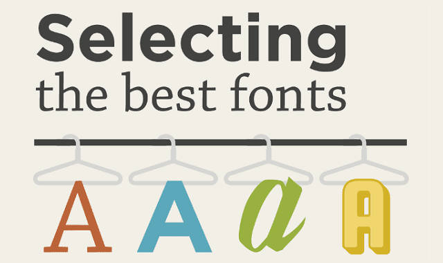 Selecting The Best Fonts