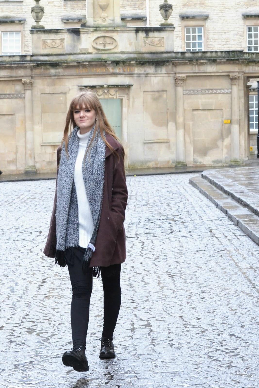 Long Burgundy Coat Edit