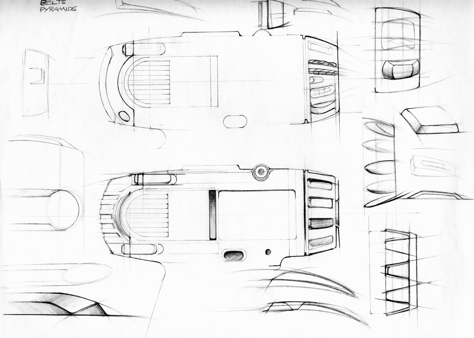 This next group of sketches shows development of the