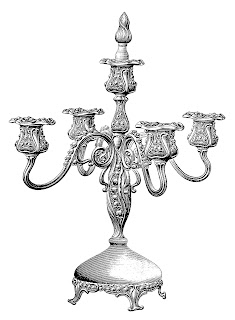 Candelabra Free Image Transfer Printable Illustration Digital Household Clip Art