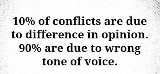10% of conflicts are due to difference in opinion.  90% are due to wrong tome of voice.