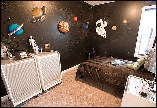 dormitorios tema astronautas colores en casa. Black Bedroom Furniture Sets. Home Design Ideas