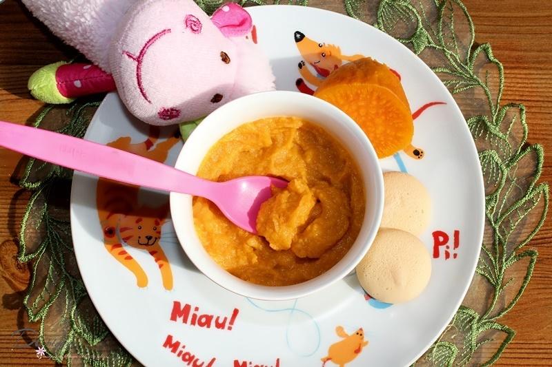 Mus z pieczonego jabłka i batata - deser dla niemowląt + kilka słów o batatach