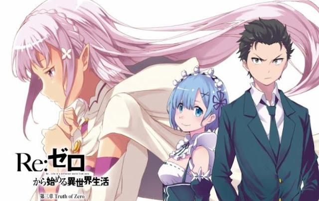 Daftar Rekomendasi Anime Fantasy Romance Terbaik - Re:Zero kara Hajimeru Isekai Seikatsu