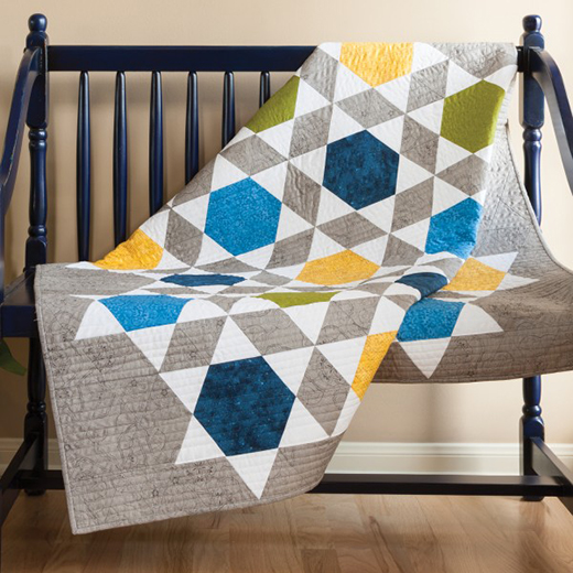 Bullseye Mosaic Triangle Quilt Free Pattern