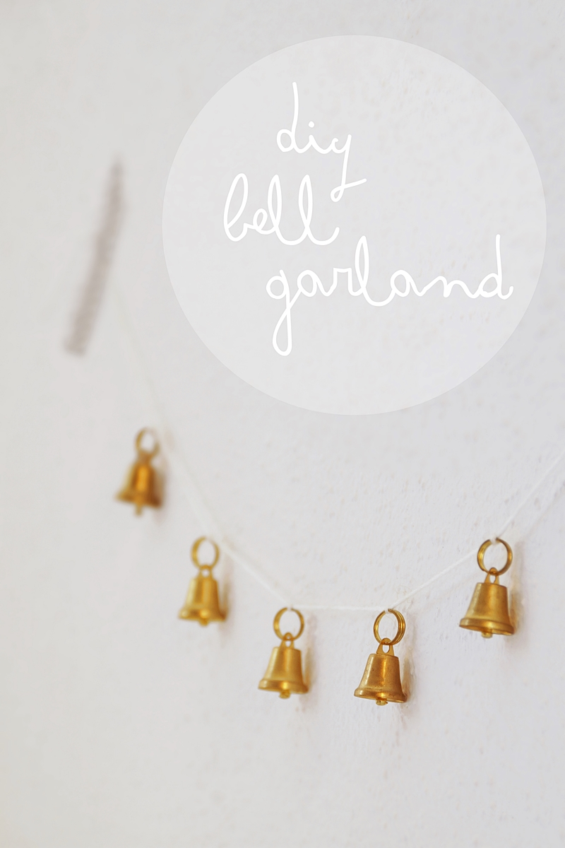 DIY easy golden bell christmas garland