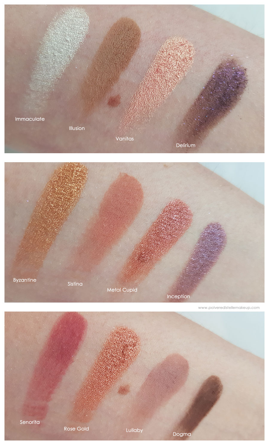 Dreamy Eyeshadow Palette Nabla Cosmetics Swatches