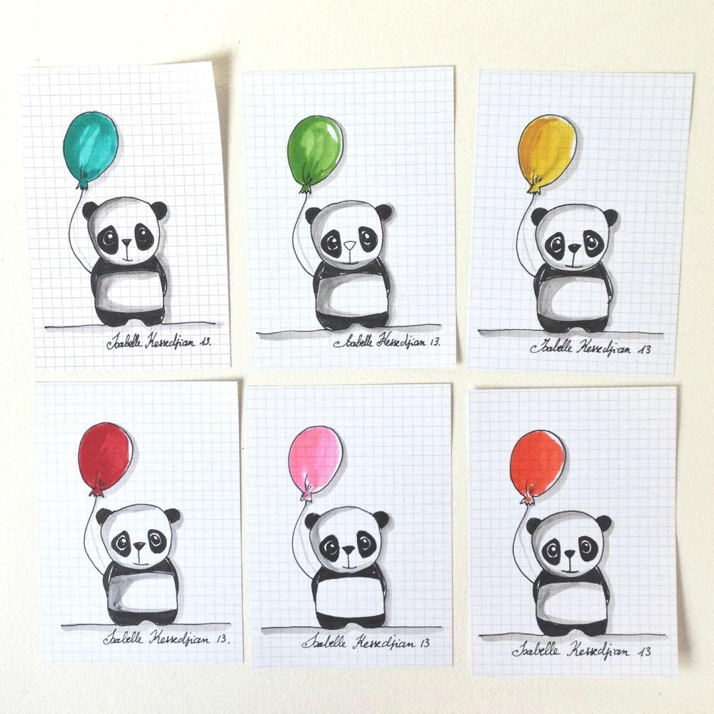 Dessin Facile Panda Coeur