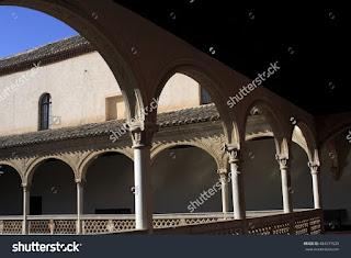 cloister convent in Toledo, Castilla la Mancha, Spain,