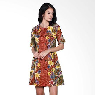 Dress Batik Etnik Modern Terbaru