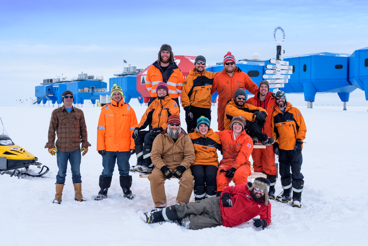 The Halley VI Wintering Team 2016