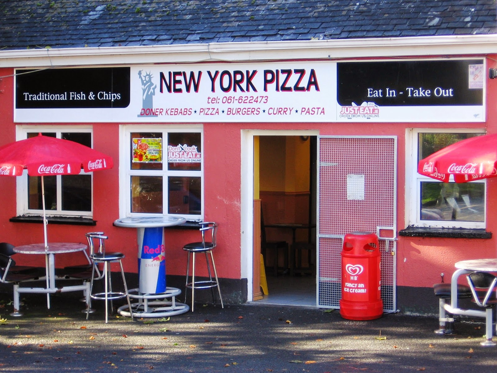 small village in Ireland sells New York style pizza