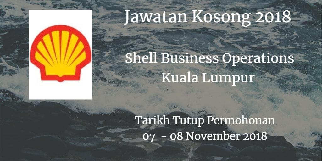Jawatan Kosong Shell Business Operations Kuala Lumpur  07- 08 November 2018