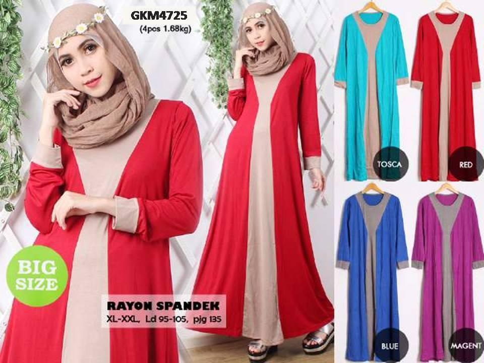 Gamis Wanita Masa Kini Gkm4725 Grosir Baju Muslim Murah