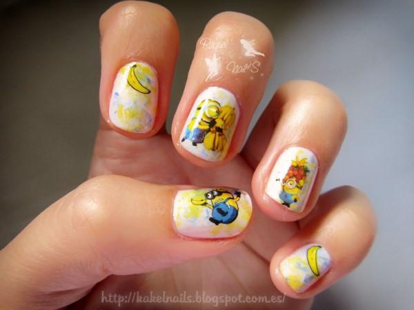 Minions-nail-art