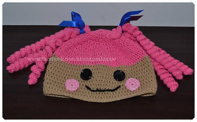 crochet hat, free crochet pattern, Lalaloopsy