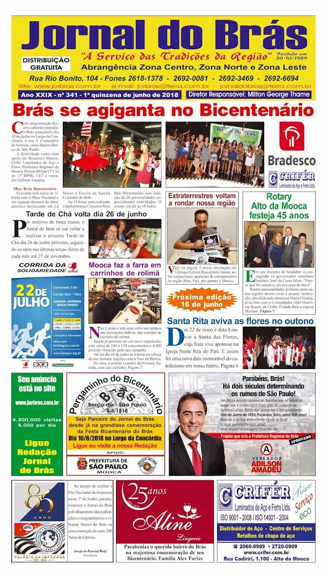 Destaques da Ed. 341 - Jornal do Brás