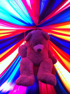 Fluffy The Bear at Christmas at Marwell