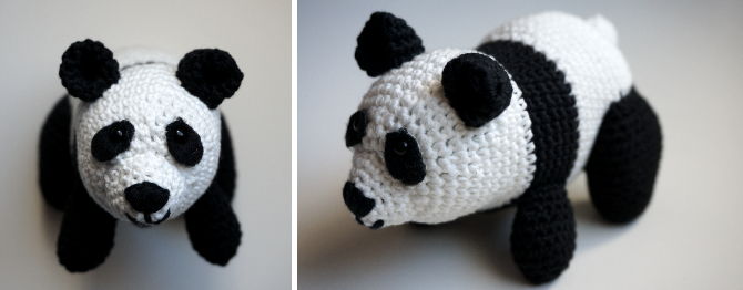 Louis The Panda Crochet pattern by Irene Strange (With images ... | 262x670
