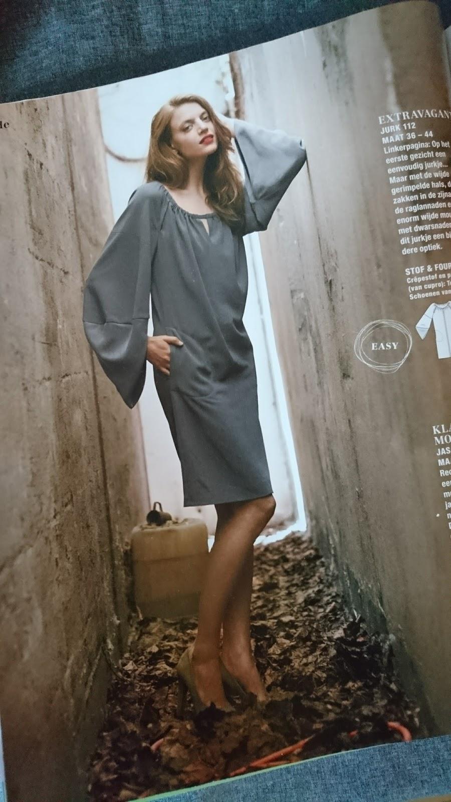 897dcb9d520 Collie-Collie: Het grijze jurkje met vleugelmouwen...