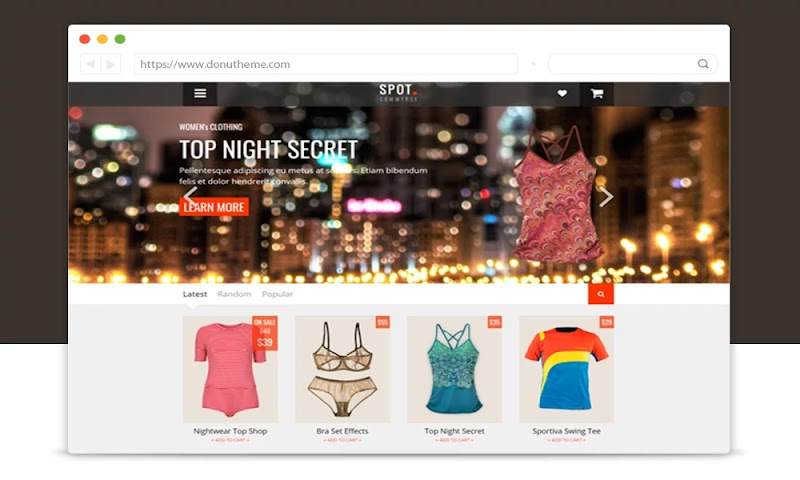 SpotCommerce Blogger Shopping Template - Responsive Blogger Template